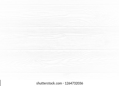 White wood texture background of distressed pine grain. Light soft natural wooden texture wallpaper.  White wooden table top view.