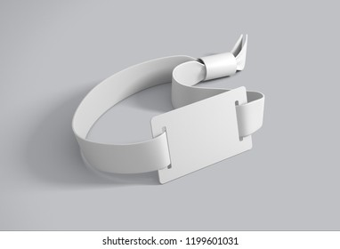 White wristband. 3D rendering
