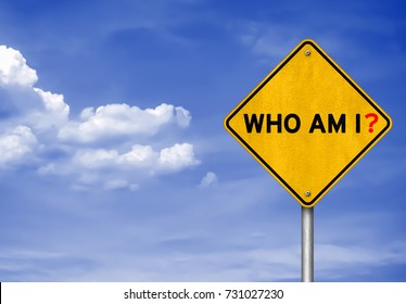 Who am I - road sign concept