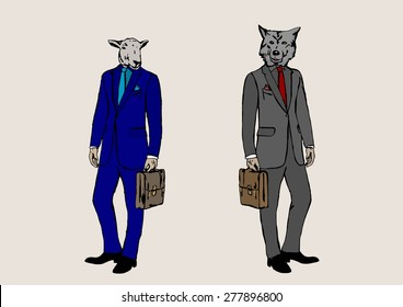 Who are you?Sheep or wolf