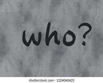who word on watercolor texture background