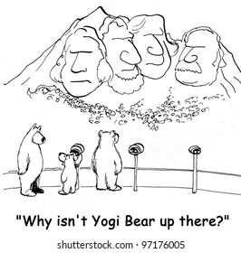 why isn't yogi up there asks bear