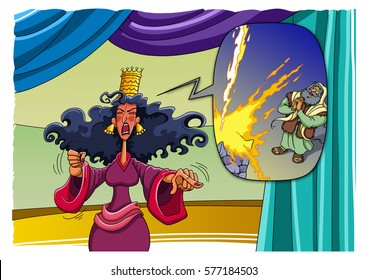 Wicked Queen Jezebel orders to seize and execute the prophet Elijah