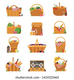 Cartoon Picnic Basket High Res Stock Images Shutterstock