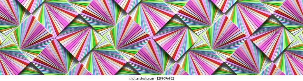 Wide Bright Multicolored Background (Site head) (3D Illustration)