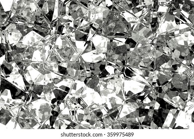 Wide continuous crystal glass pattern