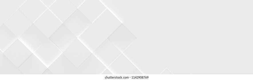 Wide White Background (Site head) (3d illustration)