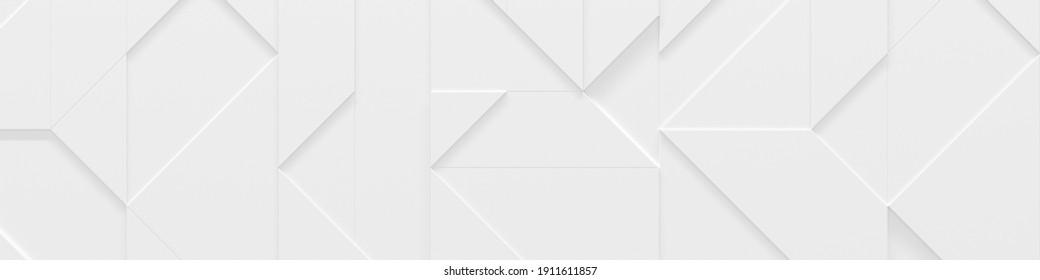 En-tête de site Web blanc (illustration géométrique 3D)