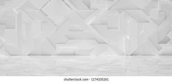 Widescreen Sci-fi Interior (3d illustration)