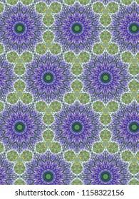 Wild lavender floral geometric patterns