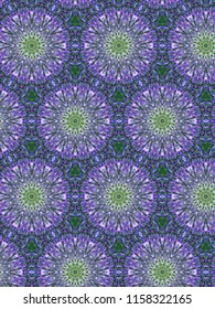 Wild lavender floral geometric patterns