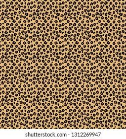 wild leopard skin design pattern vector