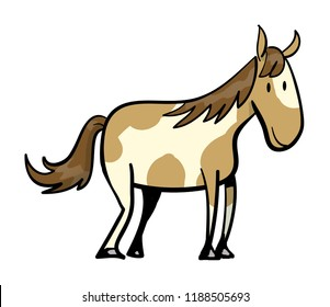 Wild Mustang Horse illustration