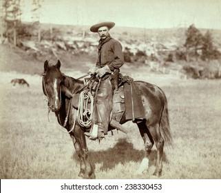 Wild West. The Cow Boy. Sturgis, Dakota Territory. photo by John C. Grabill, 1888