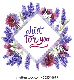 Plants with purple flowers names images stock photos vectors wildflower lavender flower frame in a watercolor style isolated full name of the plant mightylinksfo