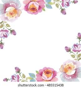 Flower Frame Border Image Frameswalls Org