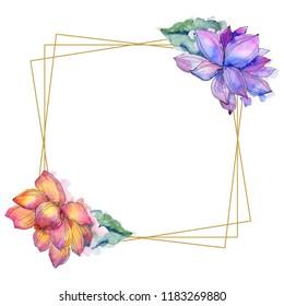 Lotus Wreath Images Stock Photos Vectors Shutterstock