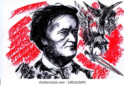 Wilhelm Richard Wagner - German composer, conductor and art theorist. The largest opera reformer who had a significant influence on European musical culture, especially German