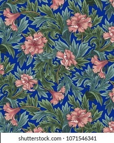 William Morris Flower Design Style