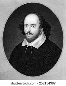 William Shakespeare (1564-1616), English poet and playwright, regarded as the greatest writer of the English language.
