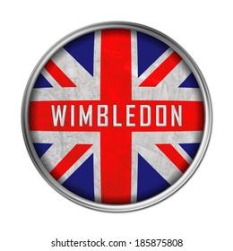Wimbledon flag button
