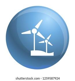 Wind turbine icon. Simple illustration of wind turbine icon for web design isolated on white background