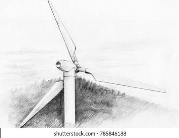 Wind Turbine, macro.