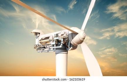 wind turbine section