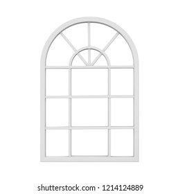 Window Frame Isolated. 3D rendering