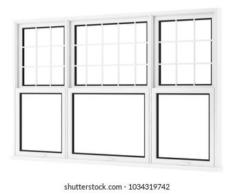 window isolated on white background. 3d illustration