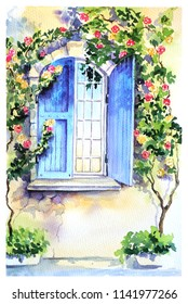 window in the morning in Provence