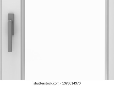 Window on isolated White 3D Rendering