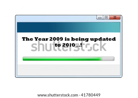 windows like message saying the new year is coming