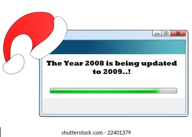 a windows like message saying about new year coming