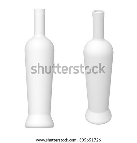 wine bottle template 3 d render different stock illustration