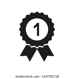 winner badge, number one icon