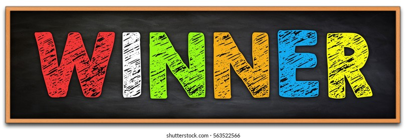Winner - chalkboard concept