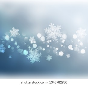 Winter abstract background.