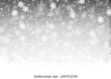 Winter abstract background. Christmas background with snowflakes. Snowflakes background.