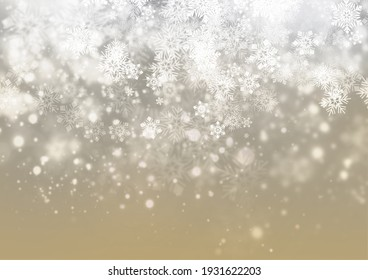 Winter background with falling snowflakes.