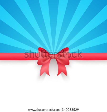 Winter Blue Beam Background Cute Red Stock Illustration 340033529