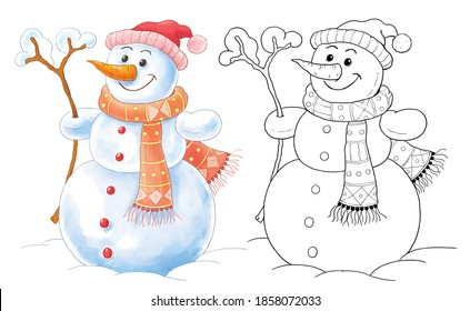 Kids Christmas Colouring Pages Images Stock Photos Vectors Shutterstock