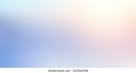Winter cold morning light. White pink blue ombre pattern. Cool nature silhouette blurred texture. Subtle sun in sky abstract background. Shiny empty template. Brilliance defocused illustration.
