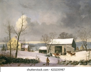 Winter Painting High Res Stock Images Shutterstock