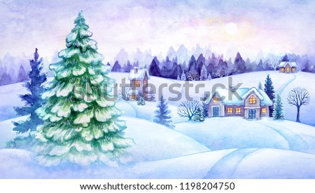 935f95232c78 ... Stock Illustration 1198204750 - Shutterstock. winter countryside view