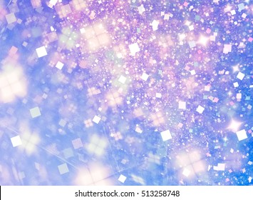 Winter fairy tale abstract background. In some places the texture much blurred
