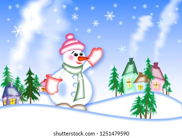 Winter holyday New Year, Christmas