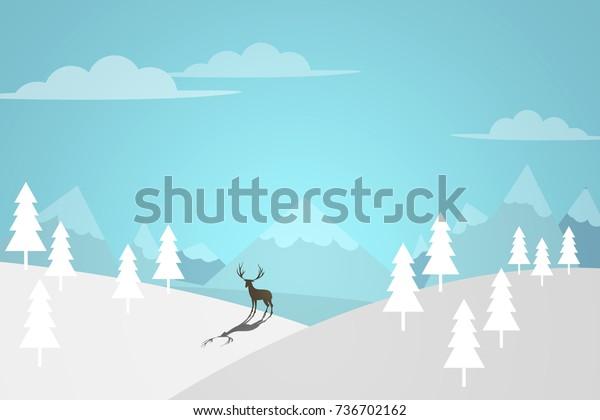Ilustración De Stock Sobre Winter Landscape Snow Background