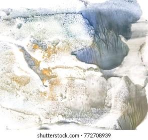 Winter landscape in wet weather