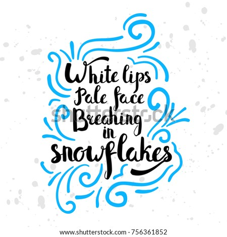Winter Seasonal Motivation Quotes Text Lovely Stock Illustration New Cold Weather Quotes